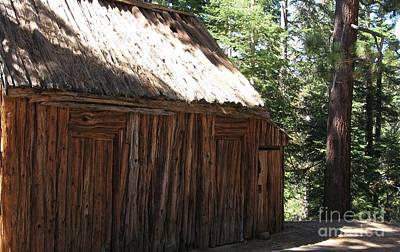 Photograph - Wood Barn At Lake Tahoe by Laura Hamill