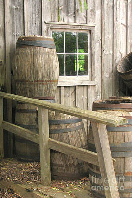 Photograph - Water Barrels by Frank Townsley