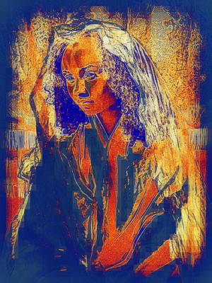 Photograph - Wood Block Madonna by Jodie Marie Anne Richardson Traugott          aka jm-ART