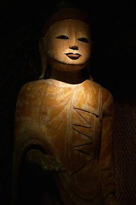 Wood Buddha Statue Art Print