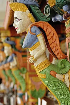 Raj Photograph - Wood Carving At Outdoor Bar, Raj Palace by Adam Jones