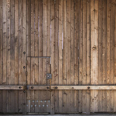 Wall Photograph - Wood Door by Lee Harland