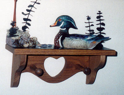 Sculpture - Mini Wood Duck Drake No 3 by Craig T Burgwardt