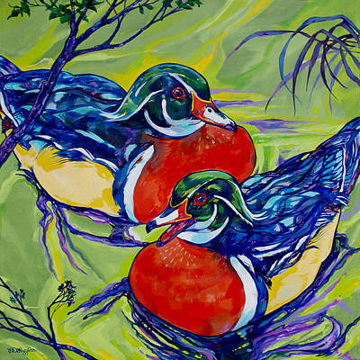 Carolina Duck Painting - Wood Duck 2 by Derrick Higgins