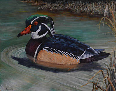 Painting - Wood Duck by Nancy Lauby
