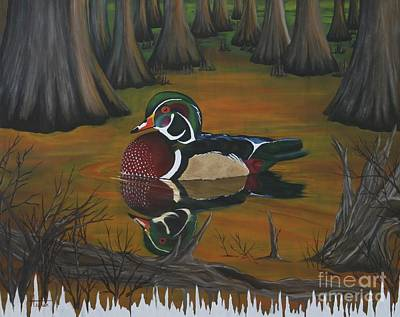 Painting - Wood Duck by Terry  Hester