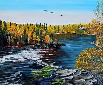 Wood Falls  Art Print by Marilyn  McNish