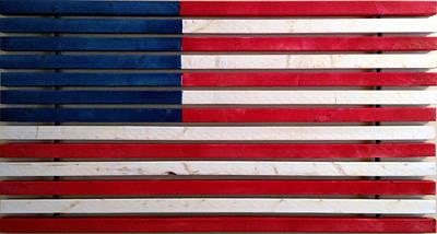 Wood Flag Number 2 Original by Ron Hedges