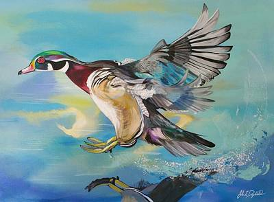 Painting - Wood Flight by John  Duplantis