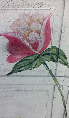 Wood Flower Art Print by Rob Hans