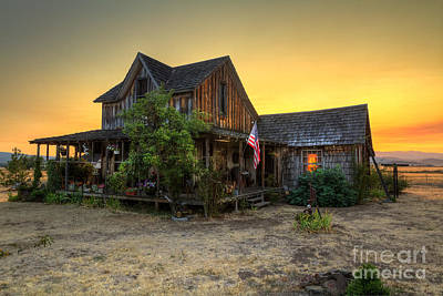 Photograph - Wood House by Randy Wood