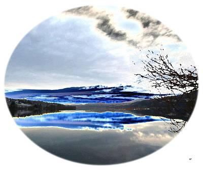 Oval Digital Art - Wood Lake Watercolor by Will Borden