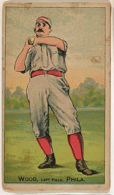 Baseball Cards Drawing - Wood, Left Field, Philadelphia by D. Buchner & Co., New York