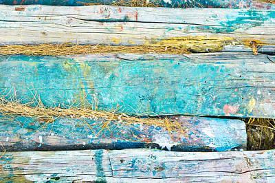 Pine Needles Photograph - Wood Logs by Tom Gowanlock