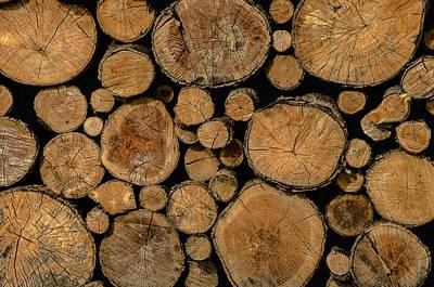 Stack Photograph - Wood Pile Color II by LeeAnn McLaneGoetz McLaneGoetzStudioLLCcom