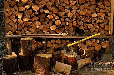 Fire Wood Photograph - Wood Pile by Ron Sanford