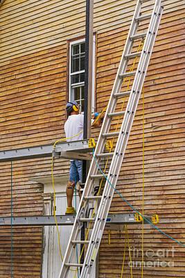Wood Sanding The House Art Print by Patricia Hofmeester