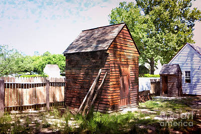 Painting - Wood Shed by Shari Nees