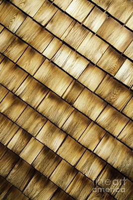 Photograph - Wood Shingles Abstract by Glenn Gordon