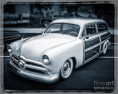 Station Wagon Digital Art - Wood Side Wagon by Perry Webster