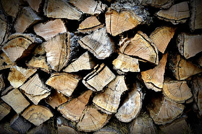 Photograph - Wood Stack by Richelle Munzon