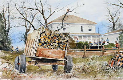 Wood Wagon Art Print