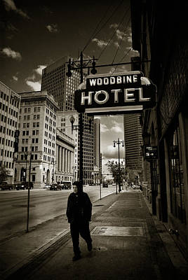 Winnipeg Photograph - Woodbine Man by Bryan Scott