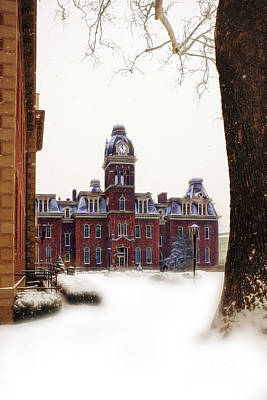Art Print featuring the photograph Woodburn Blowing Snow by Dan Friend