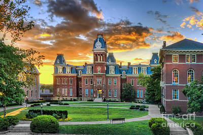 Art Print featuring the photograph Woodburn Hall Evening Sunset by Dan Friend