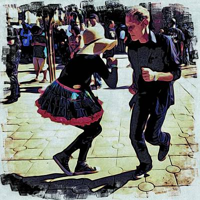 Phoneography Photograph - Woodcut A Rug by Selena  Wilson