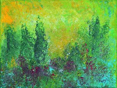 Painting - Wooded Wonderland by Donna Blackhall