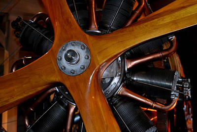 Photograph - Wooden 4-blade Propeller by Nadalyn Larsen