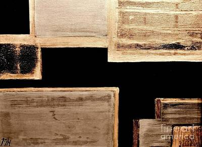 Wooden Abstract Original by Marsha Heiken