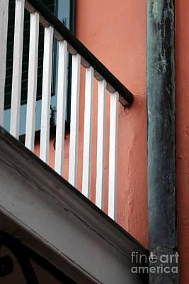 Wooden Balcony Elements Art Print by John Rizzuto