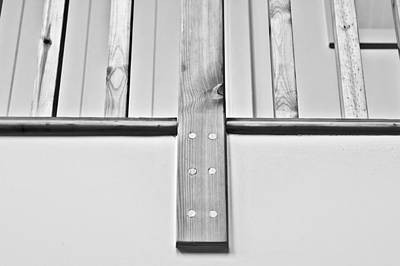Bannister Photograph - Wooden Bannister by Tom Gowanlock