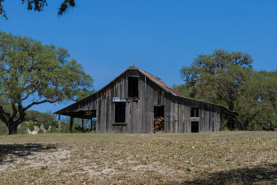 Photograph - Wooden Barn by Ed Gleichman