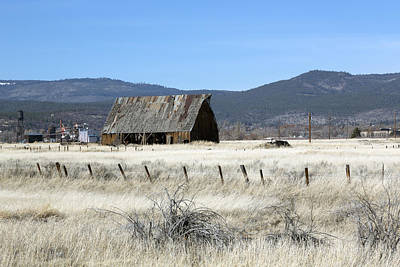Photograph - Wooden Barn Near Susanville by Carol M Highsmith
