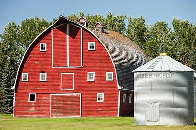 Wooden Barn On A Farm In Alberta Print by Ashley Cooper