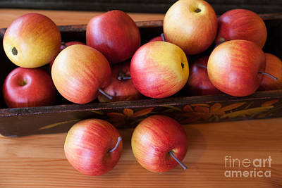 Photograph - Wooden Basket Of Red Apples. by Don Landwehrle