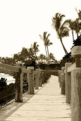 Photograph - Wooden Beach Walkway On Maui by John Orsbun