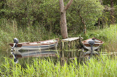 Art Print featuring the photograph Wooden Boats by Jeremy Voisey