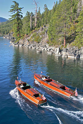 Wooden Boats On Lake Tahoe Art Print