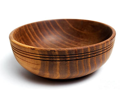 Handmade Carving Wood Photograph - Wooden Bowl by Sinisa Botas