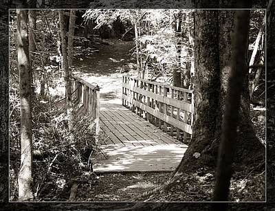Photograph - Wooden Bridge by Al Fritz