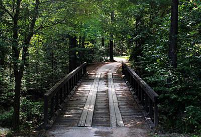 Photograph - Wooden Bridge by Judy Vincent