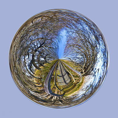 Photograph - Wooden Bridge Orb by Bill Barber