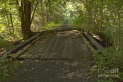 Photograph - Wooden Bridge by William Norton