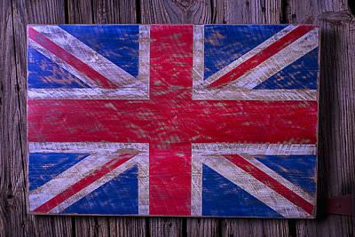 Wooden British Flag Art Print by Garry Gay