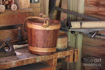 Photograph - Wooden Bucket by Jackie Mestrom