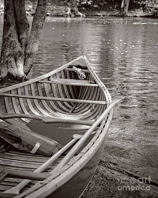 Wooden Canoe Art Print by Edward Fielding